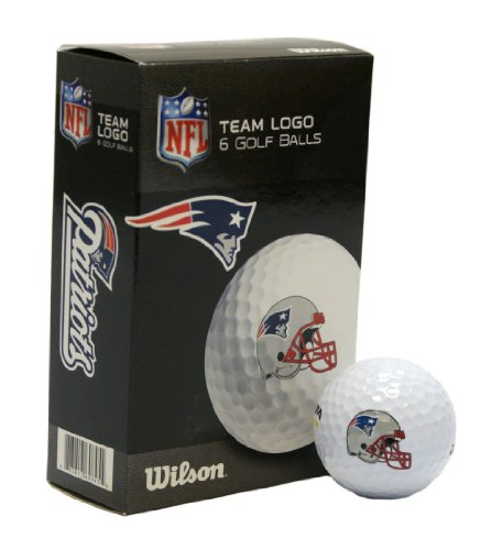 NFL New England Patriots Golf Ball, Pack of 6