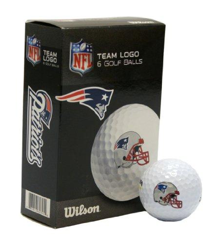 NFL New England Patriots Golf Ball, Pack of 6 (England Golf Ball)