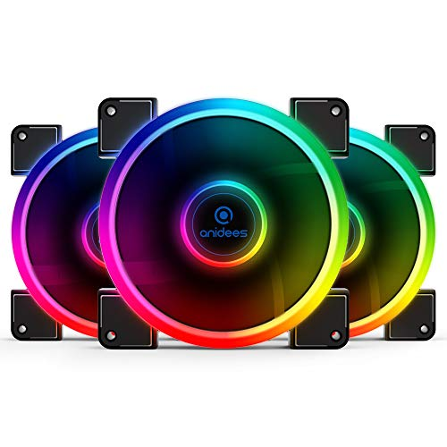 anidees AI Aureola 140 mm RGB Fan for Case Fan, CPU Cooler F