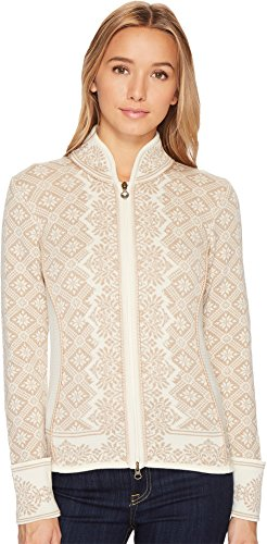 Dale of Norway Women's Christiania Athletic Sweaters, X-Small, Off White/Beige