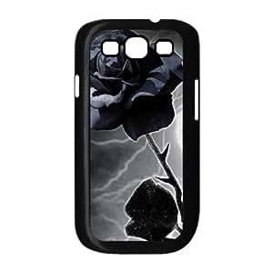 Samsung Galaxy S3 9300 Cell Phone Case Black Purple Lightening Rose LSO7868734