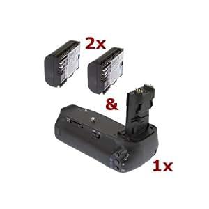 Phottix - Empuñadura y 2 baterías para Canon EOS 60D (equivalente a los modelos BG-E9 y LP-E6) Juego de baterías.