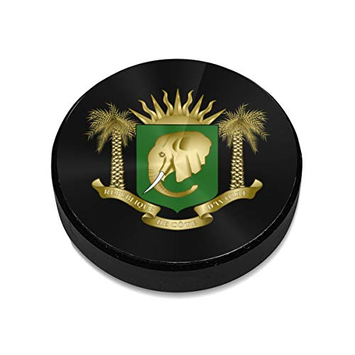 - Coat of Arms of Ivory Coast Magnetic Car Mount Universal Flat Stick-on Dashboard Holder