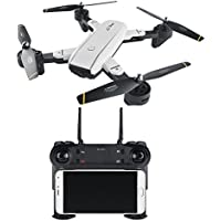 Amazingbuy- FPV RC Quadcopter Foldable WIFI RC Drone Dual 2.0MP HD Camera 2.4G 4CH 6-Axis Altitude Hold Auto Home RC Helicopter,Follow Me Mode,V-sign,Double Camera Switch (1 Battery)