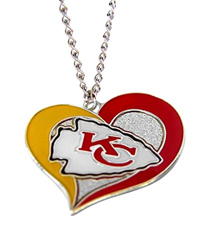 (aminco NFL Kansas City Chiefs Swirl Heart)