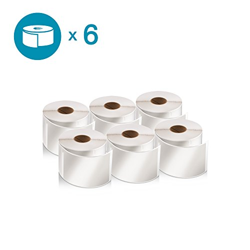 DYMO Authentic LabelWriter Standard Shipping Labels for LabelWriter Label Printers, White, 2-1/8'' x 4'' (30323), 6 Rolls of -