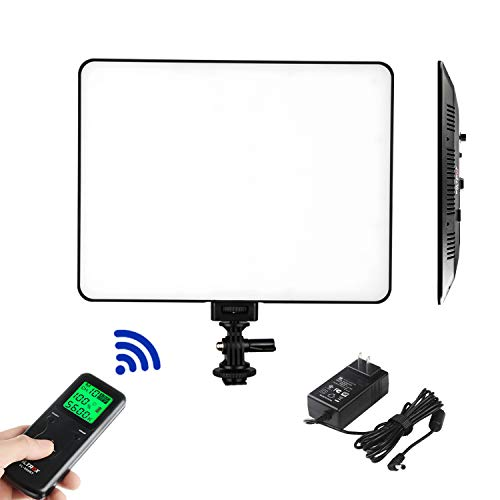 VILTROX VL-200T Ultra Thin Bi-Color Dimmable LED Video Light, Panel Light for Interview YouTube Outdoor Studio Portrait Photography Lighting with 3300K-5600K, CRI 95+ and Remote Controller ...