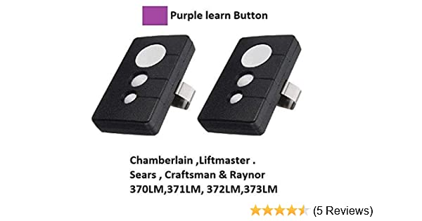 2 For Chamberlain 373lm 3 Button Garage Door Opener Remote Control 315mhz Amazon Com
