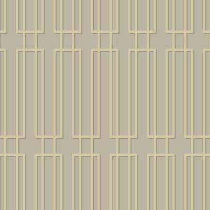 (York Wallcoverings CN2133 Candice Olson Modern Artisan Plaza Wallpaper Metallic Silver, Cream, Dark Grey)