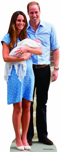 Royal Baby George, Prince William & Kate Middleton Cutout - The Royals Cardboard Cutout