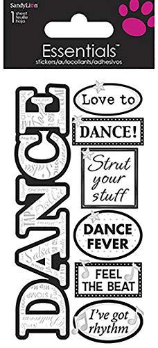 Sandy Lion Dance Essentials Sticker (Dance Scrapbook Stickers)