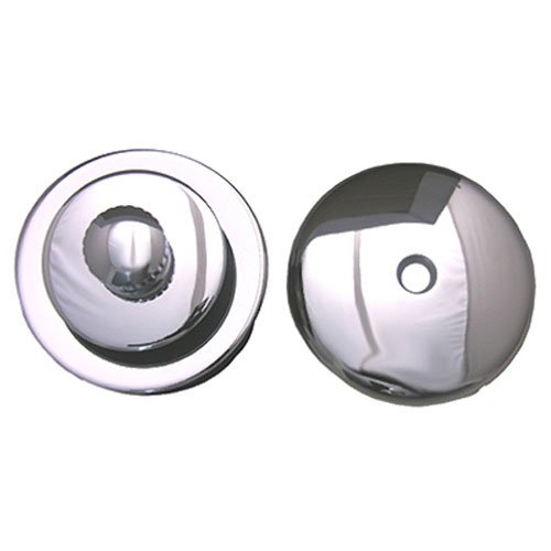 LASCO 03-4891 Lift and Lock Stopper with Overflow Plate Bathtub Trim Kit, Chrome Plated