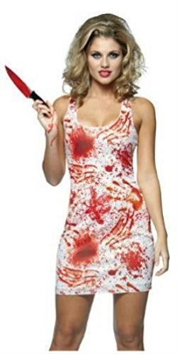 Tank Costumes Dress Bloody (Bloody Tank Dress Adult Costume Size)