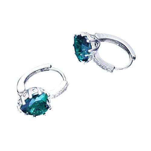 - Women's Earrings,kaifongfu Love Ear Studs Earrings Ornament Jewellery (Green)