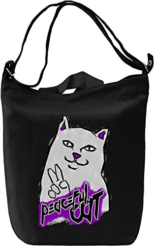 Peaceful Cat Borsa Giornaliera Canvas Canvas Day Bag| 100% Premium Cotton Canvas| DTG Printing|