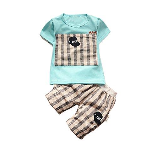ftsucq-little-boys-girls-hat-striped-pattern-shirt-top-two-pieces-shorts-setsblue-90