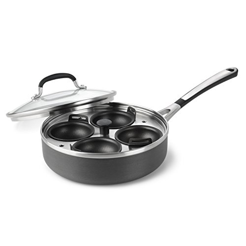 Simply Calphalon Nonstick 4-cup Egg Poacher with Cover