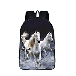 3D Fantastic Animal Prints Horse Unicorn Backpacks Teenagers Boys Girls Kids Backpack School Bags Children Mochila Escolar 16JM13
