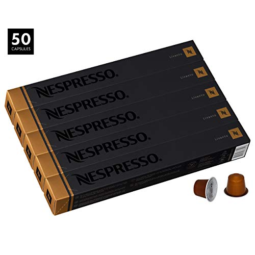"Nespresso OriginalLine Espresso, Livanto, 50 Capsules - ""NOT Compatible with Vertuoline machines"""