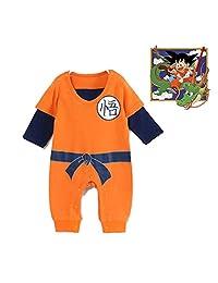 CQiS Goku Baby Romper Cartoon Dragon Ball Jumpsuit Babies Newborn Infant Rompers