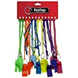 12 - BRIGHTLY COLOURED NEON WHISTLES by Plastic Whistle