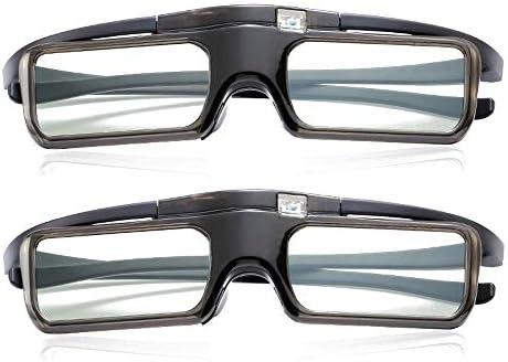 Mouwa Gafas 3D con Obturador Activo, Gafas 3D Recargables para TV ...