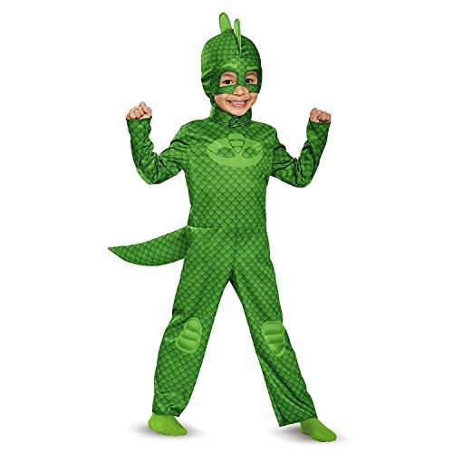 [Disguise Gekko Classic Toddler PJ Masks Costume, Medium/3T-4T] (Halloween Costumes With Mask)