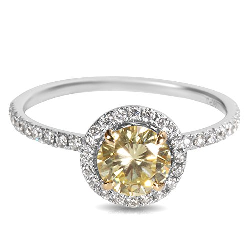 BRAND NEW GIA Certified Yellow Diamond Engagement Ring in 18k WG/YG (1.19 CTW) by Loved Luxuries