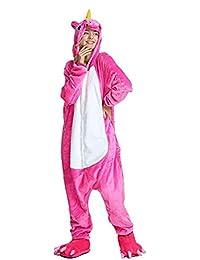 Unisex-adult Unicorn Pajamas Animal Onesie Halloween Xmas Cosplay Costumes