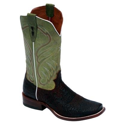 Ostrich Brandy (Twisted X Boots Men's MRAL002,Oiled Brandy Smooth Ostrich/Waxed Olive Leather,US)