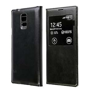GX La cubierta de cuero protectora de la PU w ??/ Smart Auto-Sleep Chipset y Bloc impermeable para Samsung Galaxy S5 (colores surtidos) , Black