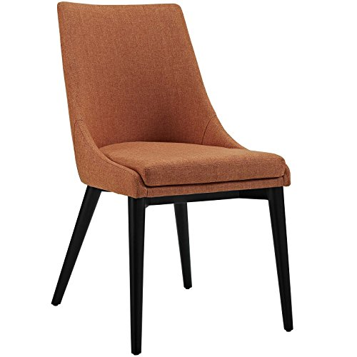 Modway Viscount Fabric Dining Chair in Orange