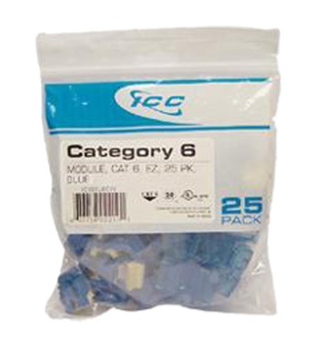 IC107L6CBL - 25PK Cat6 Jack -