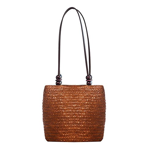 - HOSPORT Women Woven Tote Straw Shoulder Handbag Beach Rattan Bag