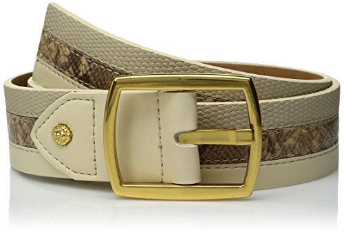 Ak Anne Klein Women's Anne Klein 38mm Mixed Texture Belt, Birch/Natural/Natural, M