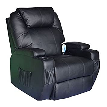 Cavendish electric recliner chair with heat /massage - choice of colours (Black)  sc 1 st  Amazon UK : electric reclining armchair - islam-shia.org