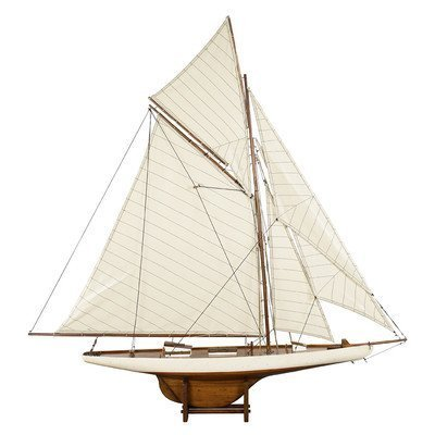 America's Cup Columbia 1901 Wood Model Ship by Authentic Models