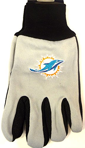 NFL Miami Dolphins Two-Tone Gloves, Orange/Green ()