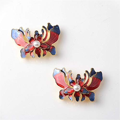 (Maslin 10pcs/lot Cloisonne Gold Rhinestones Buttons DIY Decorative Sew for Brooch Pin Dress Coat Bag Alloy Badge Wedding Accessories )