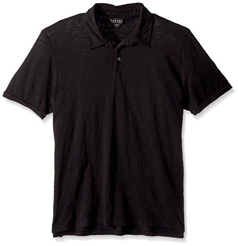Velvet by Graham & Spencer Men's Randall SS Polo Shirt, Black, Medium