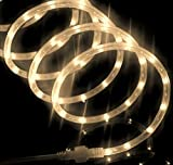 Izzy Creation 18FT Warm White LED Flexible Rope Lights Kit For Indoor/Outdoor Lighting, Home, Garden, Patio, Shop Windows, Trees, New Year, Wedding, Party, Event