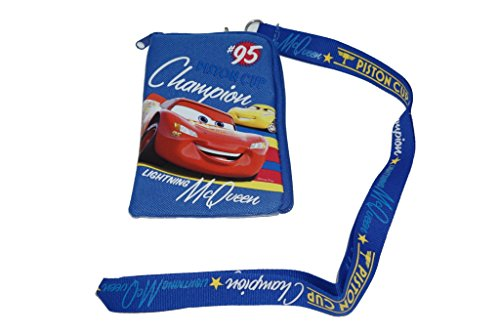 Disney Cars Blue Lanyard with Cell Phone Case or Coin Purse -