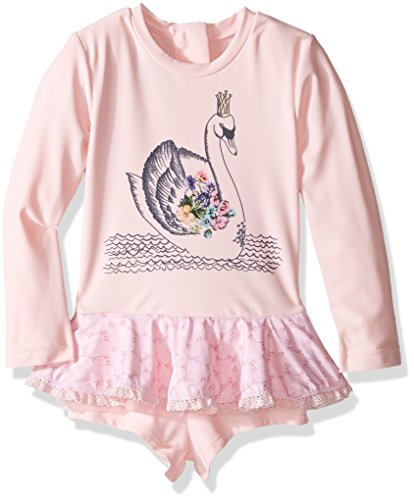 Seafolly Little Girls' Swan Lake Playsuit, Ballet Pink, 1