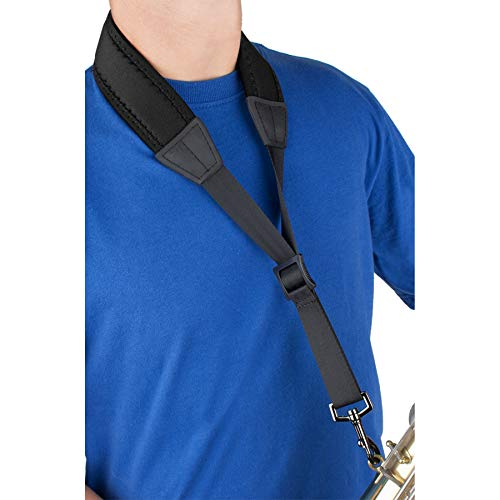 Pro Tec N305M 24-Inch Padded Neoprene Saxophone Neck Strap with Metal Snap ()