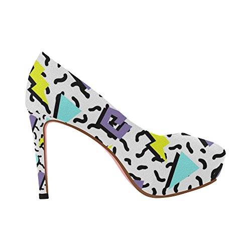 Zenzzle Femmes Coin Talon Haut Escarpins Chaussures Motif Feuille Graffiti Coloré Catcher Rêve Ethnique Prin Sur La Taille 5-11 Color4