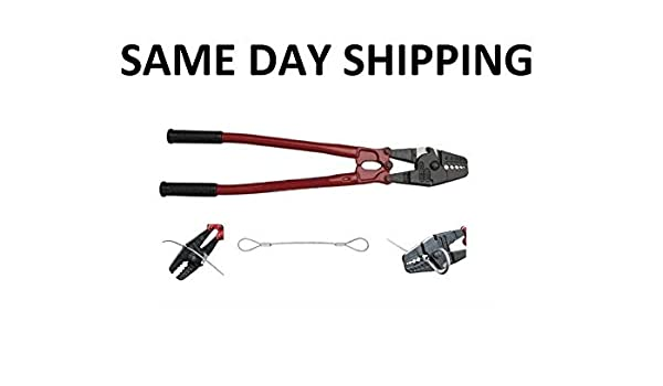 """24/"""" Hand Swager Cable Wire Rope Cutter Swage 1//16/"""" 3//32/"""" 1//8/"""" 5//32/"""" 3//16/"""""""