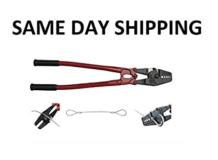 DONNGYZ 30 Inch Hand Swager Crimper 3 Cavity 5//32 1//4 5//16inch Swaging Tool for Copper Aluminum Oval Sleeves and Stop Sleeves Wire Rope Crimping Tool