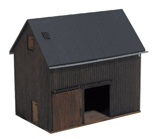 Busch 1401 Wood Shed HO Structure Scale Model - Wood Ho Scale Structures
