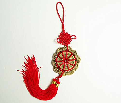 Shui Charm Feng (Prosperity Protection Set of 10 FENG SHUILucky Charm Ancient I CHING Coins)