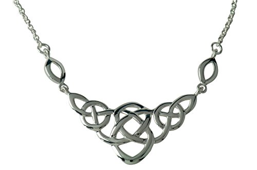 - Celtic Love Knot Necklace in Sterling Silver